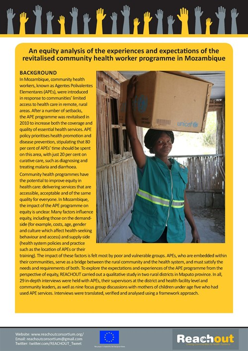 Mozambique Brief On Equity And Community Health Workers Page 1