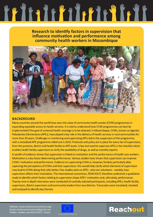 MOZAMBIQUE Brief On Supervision And Community Health Workers _Page _1